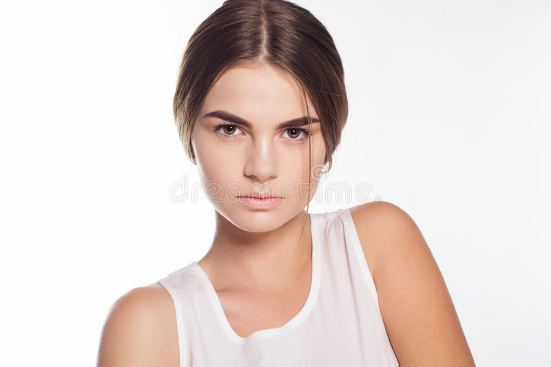 Beautiful Young Girl With Perfect Skin Stock Photo - Image Of Cute, Happy 61951186-3250