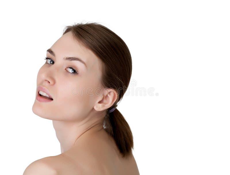 Download Beautiful Young Girl Posing At Camera, Close-up Stock Photo - Image: 37727160