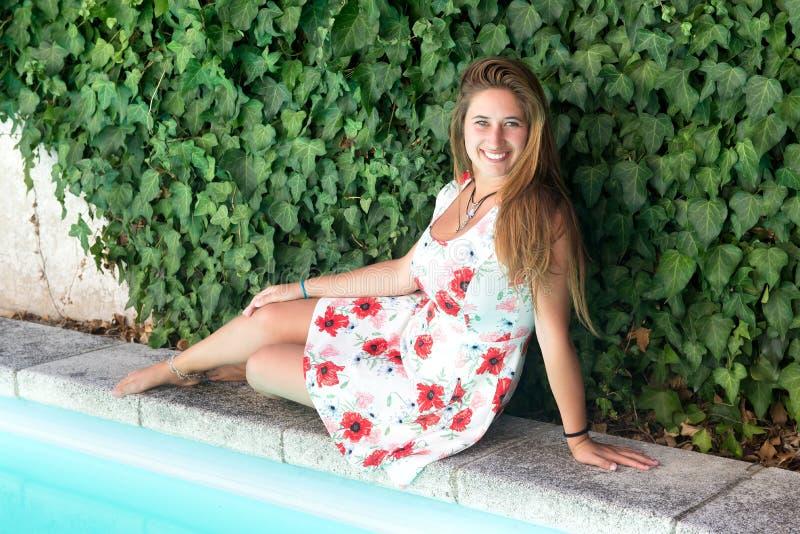 Beautiful young girl posing royalty free stock photos