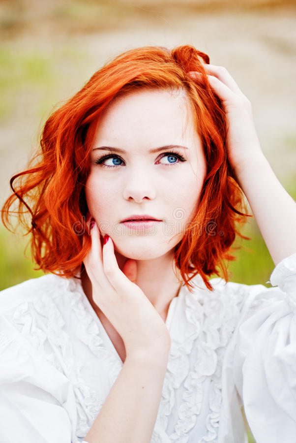young girl with red hair stock photo image of forest beautiful young girl with red hair stock photo image of