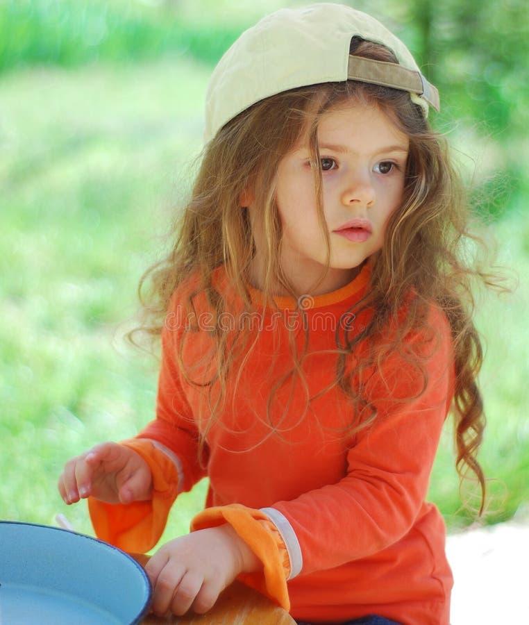 Beautiful young kid girl royalty free stock photos