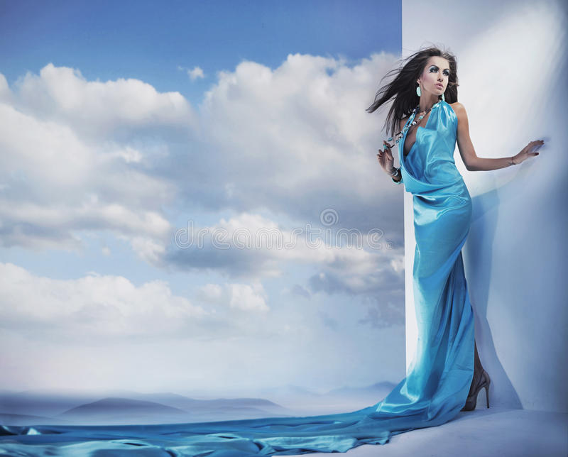 Download Beautiful young lady stock photo. Image of elegant, beautiful - 13360460