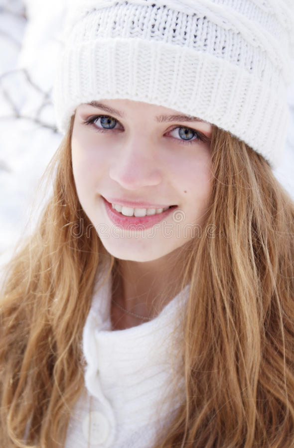 Beautiful young lady stock image