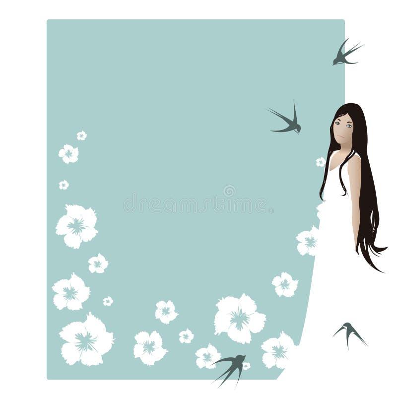 Beautiful young lady stock illustration