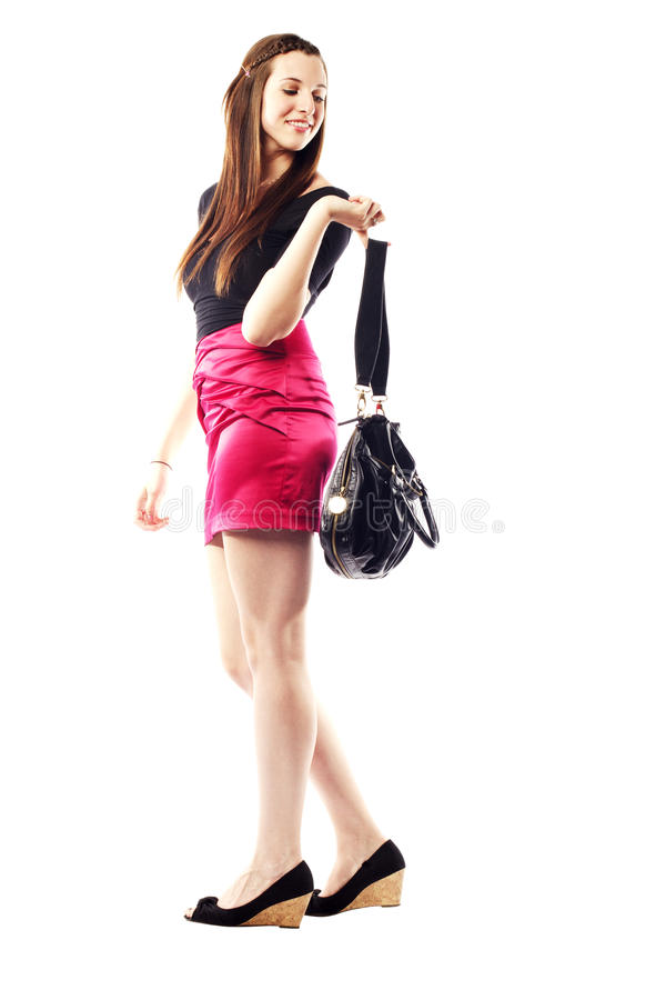 Download Beautiful Young Lady Wearing Fashionable Clothing Stock Photo - Image: 26615738