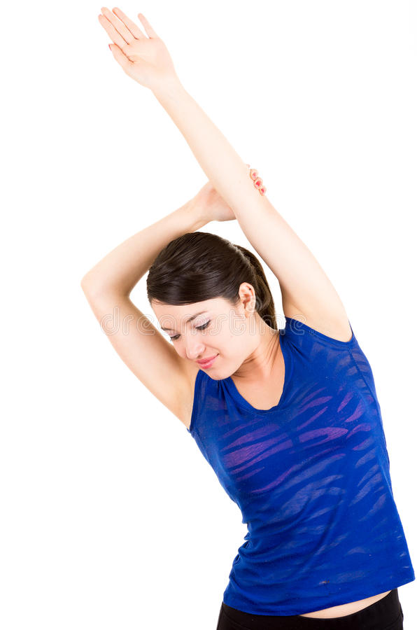 Beautiful young latin girl excercising royalty free stock photo