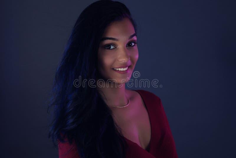 Portrait of a beautiful young latina woman stock photos