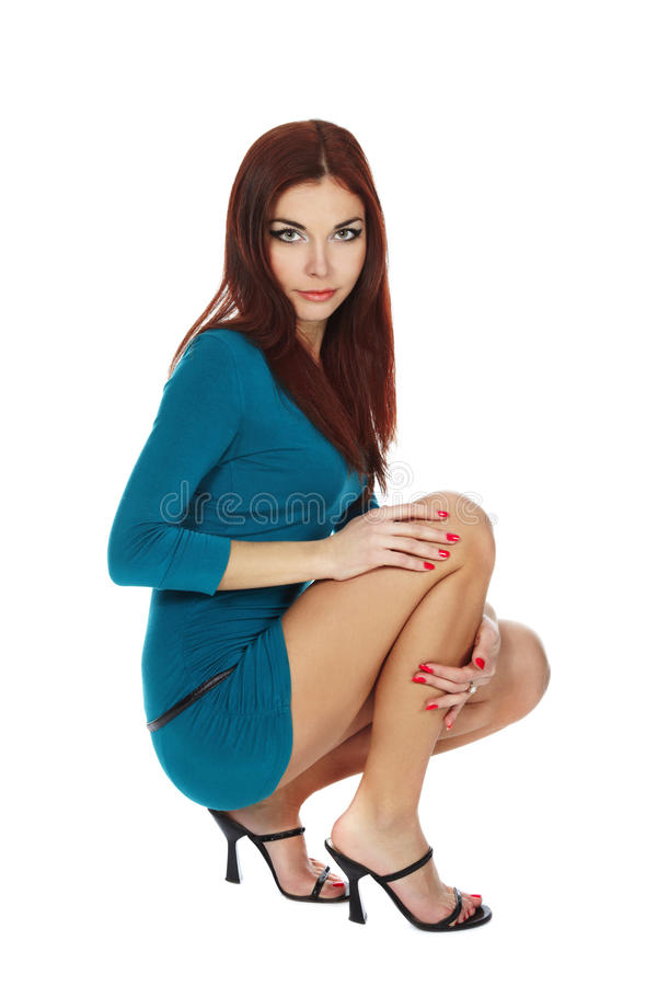 Beautiful Young Leggy Brunette Royalty Free Stock Image