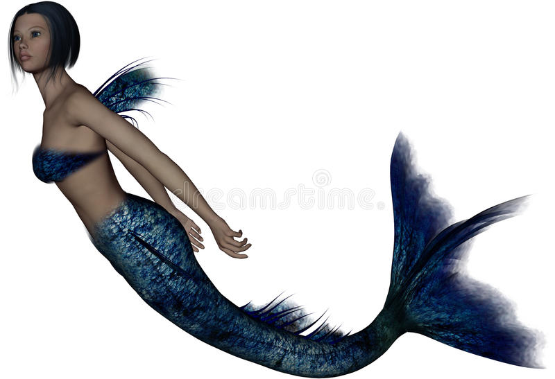 Download Beautiful Young Mermaid Royalty Free Stock Photos - Image: 16575028