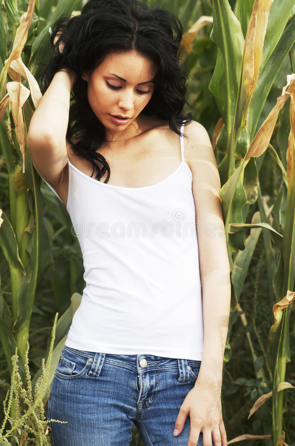 Download Beautiful young model stock photo. Image of adult, corn - 7291148