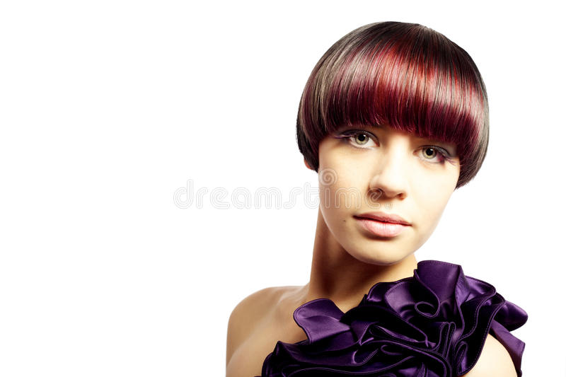 Beautiful young model fashion portrait stock images