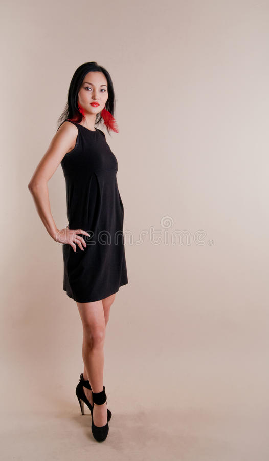 Beautiful young multinational model royalty free stock image