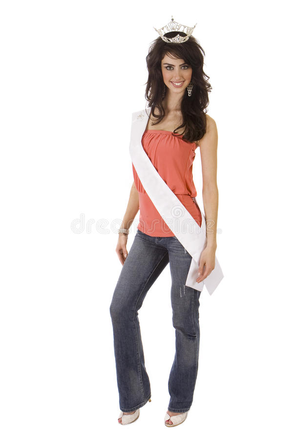 Beautiful Young Pageant Winner royalty free stock photos