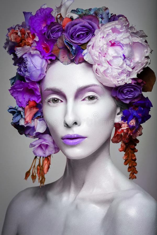 Beautiful flower queen royalty free stock image