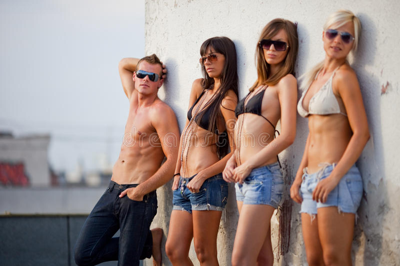 Beautiful Young People Royalty Free Stock Photography