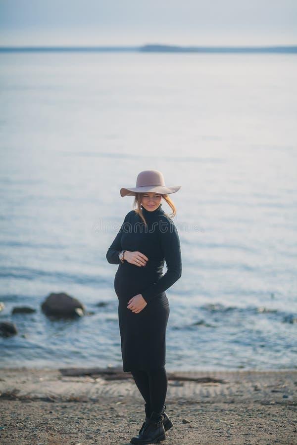 Beautiful pregnant woman royalty free stock photo