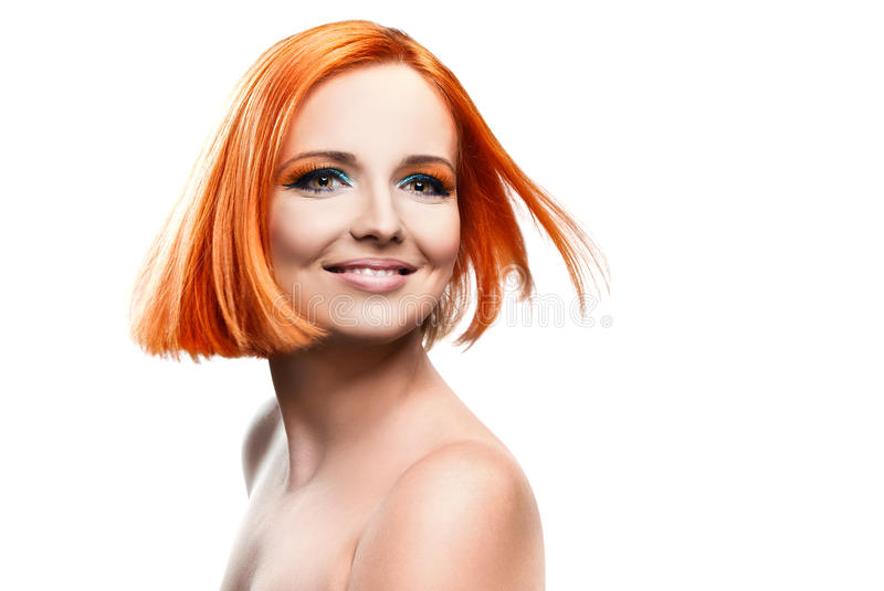 Beautiful young redhead woman royalty free stock photo