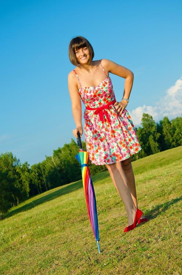 Beautiful young woman posing royalty free stock photos