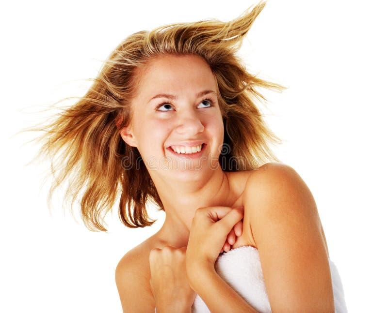 Download Beautiful Young Spa Vrouw Op Wit Stock Foto - Afbeelding bestaande uit schoonheid, gezicht: 10783964