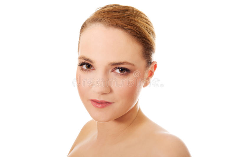 Beautiful young spa woman. Beautiful young sensual spa woman royalty free stock image