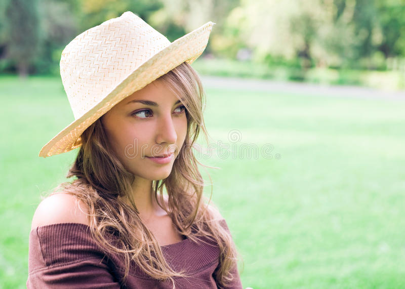 Download Beautiful Young Spring Brunette Outdoors. Royalty Free Stock Images - Image: 18545339