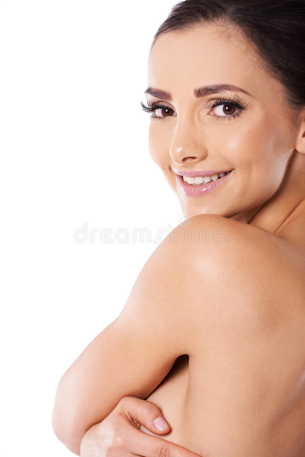 Beautiful Young Topless Woman Stock Photo
