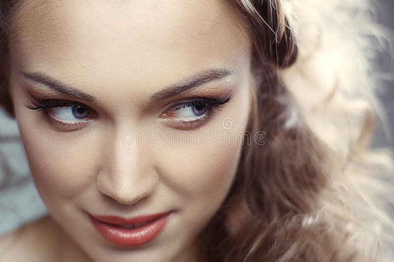 Download Beautiful young woman stock image. Image of portrait - 27324005