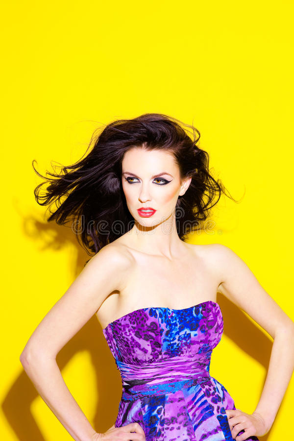 Download Beautiful young woman stock photo. Image of print, colorful - 28385514