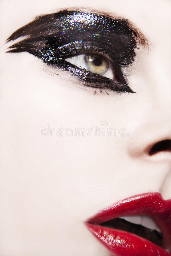 Beautiful young woman. With avant garde make up stock photos