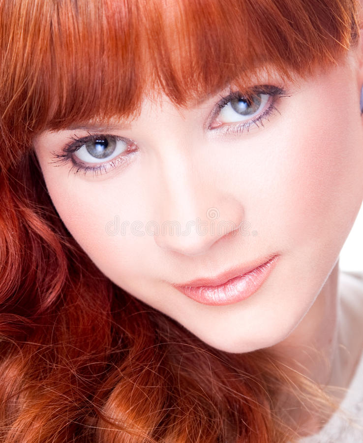 Beautiful Young Woman With Blue Eyes Stock Photos
