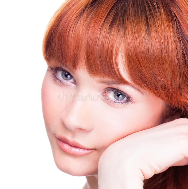 Beautiful Young Woman With Blue Eyes Royalty Free Stock Photos