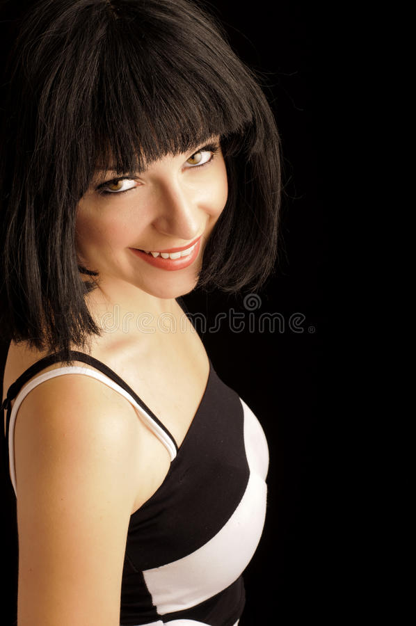 Download Beautiful Young Woman With Bob Hairstyle Royalty Free Stock Photos - Image: 25791288