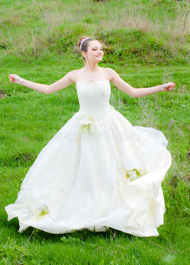 Download Beautiful Young Woman Bride To Be Outdoors Stock Photo - Image: 25144744