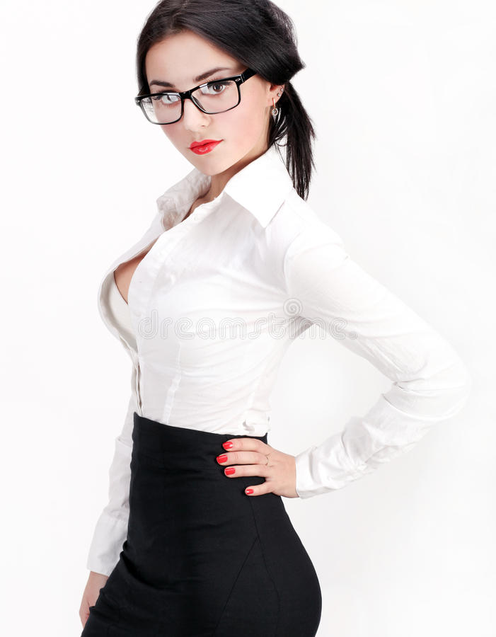 Beautiful young woman in business o royalty free stock photography