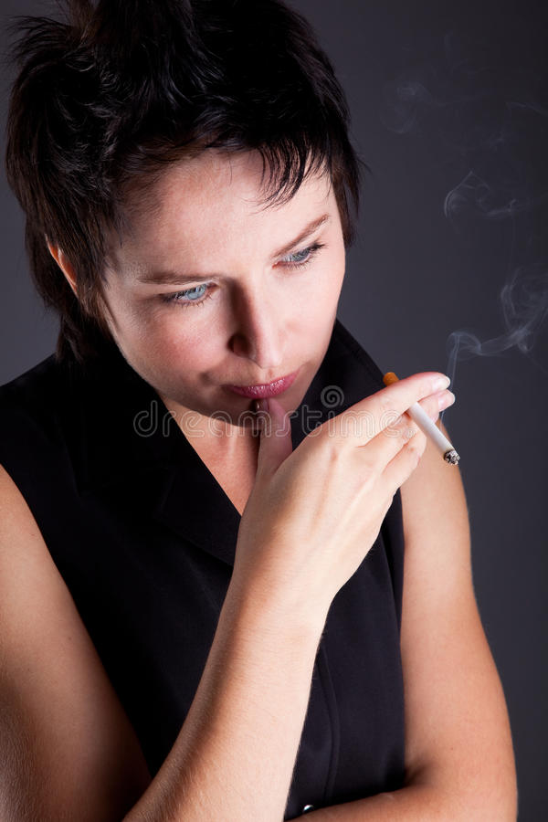 Download Beautiful Young Woman With A Cigarette Royalty Free Stock Photos - Image: 10616168