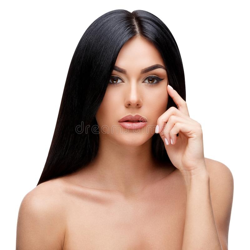 Beautiful Young Woman with Clean healthy hair stock photography
