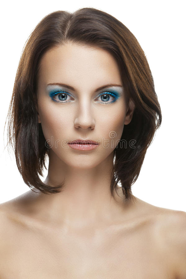 Beautiful Young Woman Close Up Stock Images