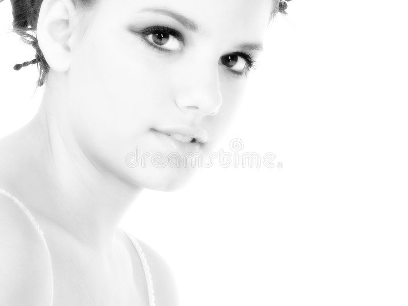 Download Beautiful Young Woman Close Up Stock Image - Image: 732615