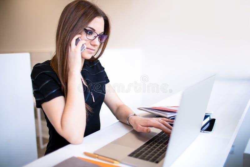 Female employer calling royalty free stock photos
