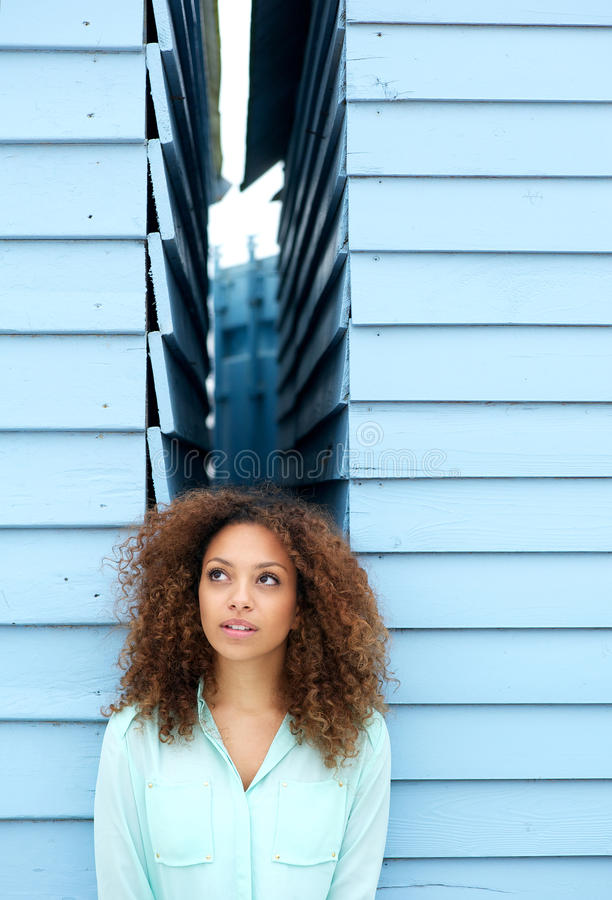 Download Beautiful Young Woman With Curly Hair Stock Image - Image: 33872667