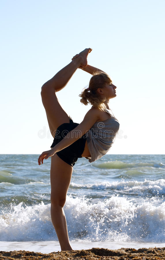 Download Beautiful Young Woman Doing Fitness Exercise Stock Image - Image of active, carefree: 18466437