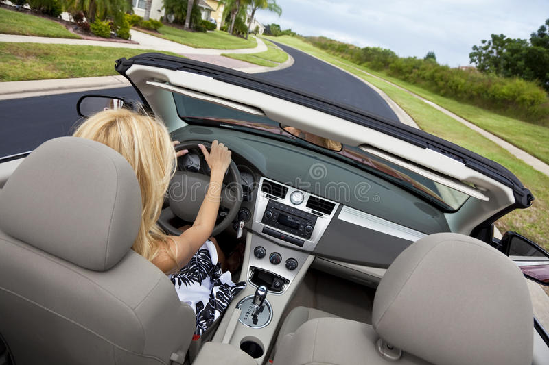 Download Beautiful Young Woman Driving Convertible Car Royalty Free Stock Photography - Image: 11626347