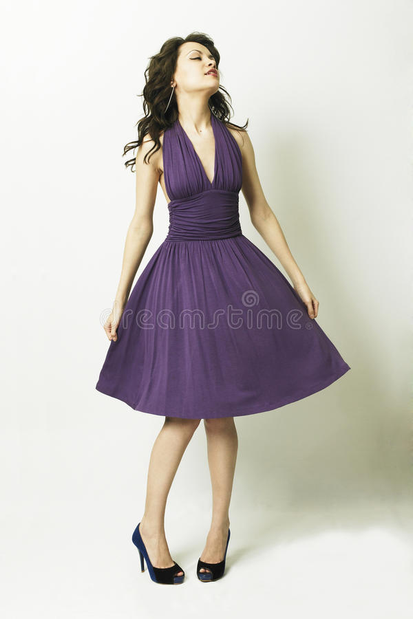 Download Beautiful Young Woman In Elegant Dress Stock Photo - Image: 10568286