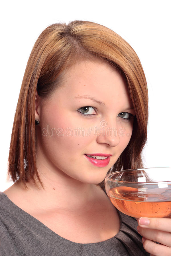 Download Beautiful Young Woman Enjoying A Glass Of Bubbly Stock Images - Image: 16799804