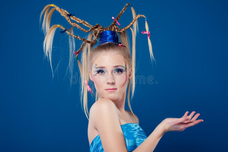 Download Beautiful Young Woman With Face-art Stock Photo - Image: 12709586