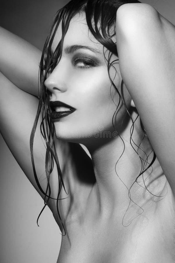 Download Beautiful young woman stock photo. Image of eyeshadow - 39502522