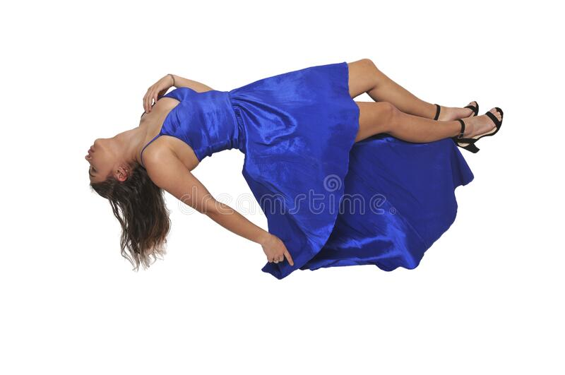 Beautiful Floating woman stock image