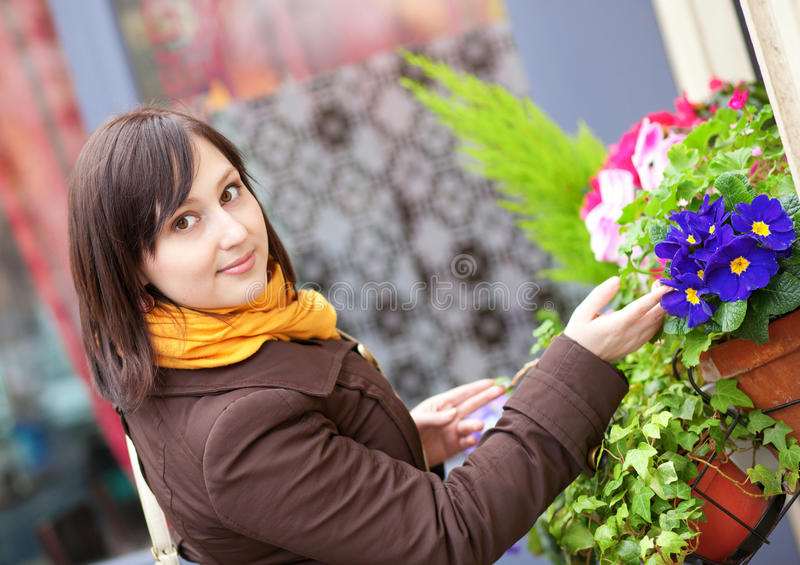 Download Beautiful Young Woman With Flowers Stock Image - Image: 23543841