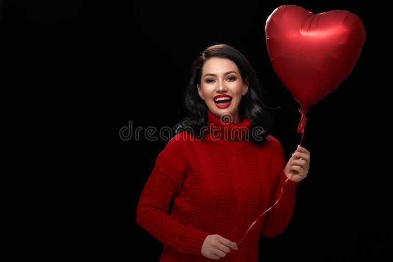 Girl on Valentine`s Day royalty free stock photos