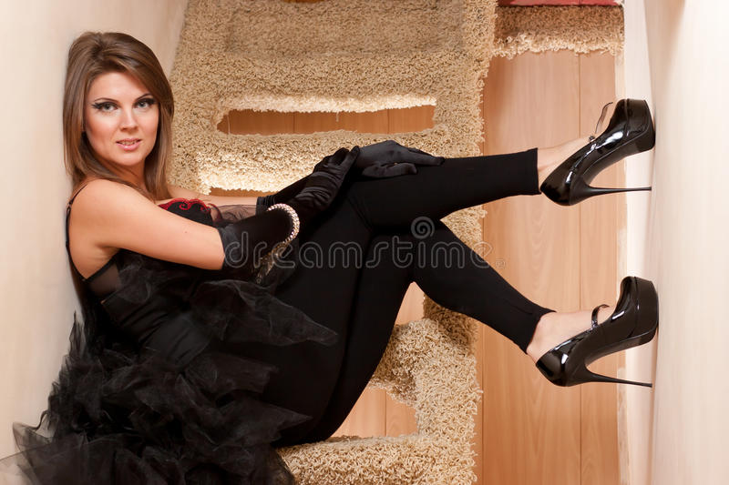 Download Beautiful Young Woman In High Heels Shoes Stock Photo - Image: 23109198